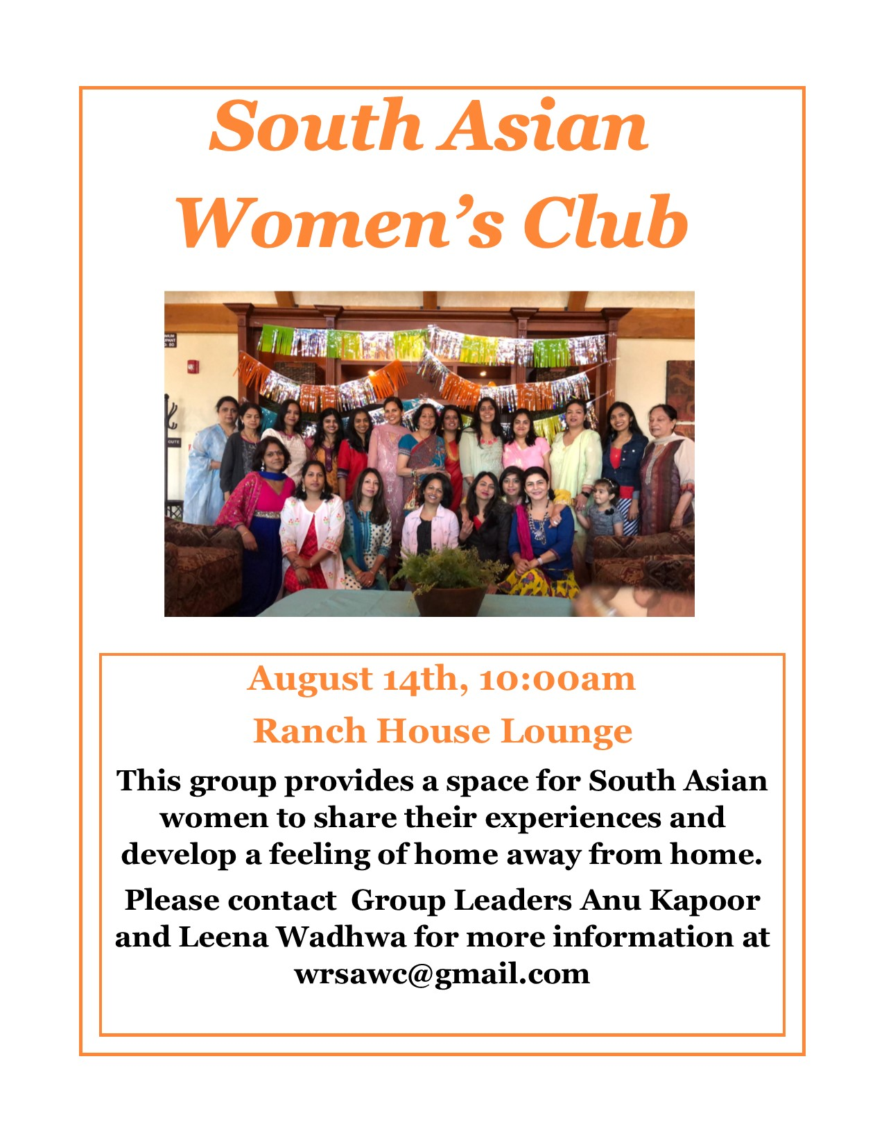 Aug So Asian Women's Club