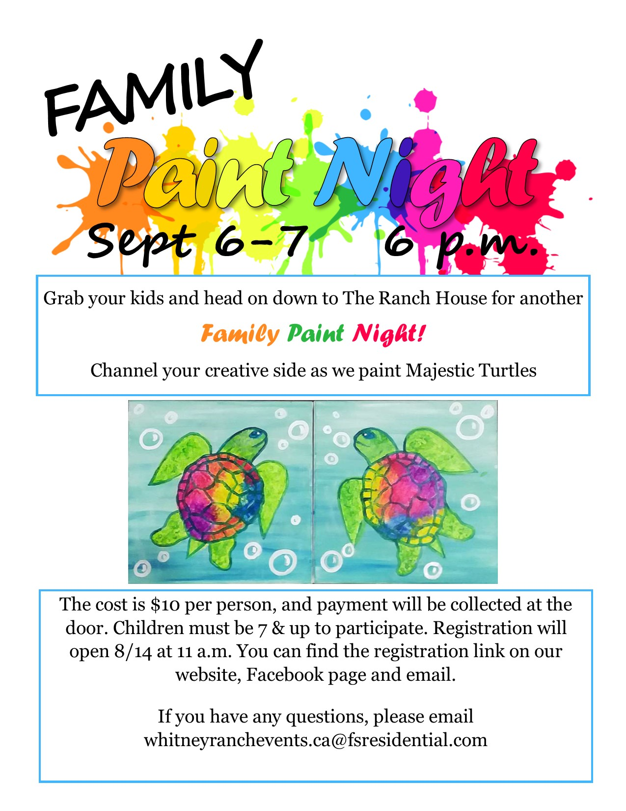 Family Paint Night 2019
